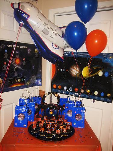 space birthday decorations